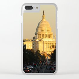 The United States Capitol in the afternoon sun Clear iPhone Case