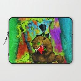 Radioactive Groundhog Eating an Apple Laptop Sleeve