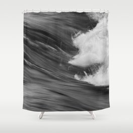 Smooth Turbulence Shower Curtain