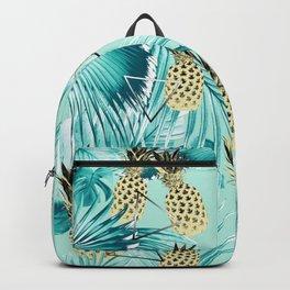 Tropical Pineapple Jungle Geo #3 #tropical #summer #decor #art #society6 Backpack
