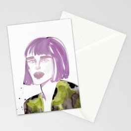 Joe with purple hair Stationery Cards
