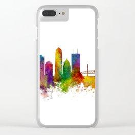 Jacksonville Florida Skyline Clear iPhone Case