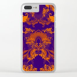 floral ornaments pattern vo Clear iPhone Case