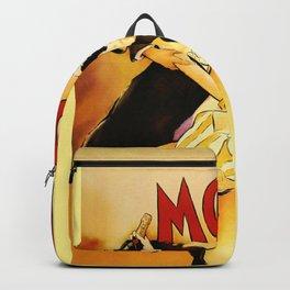 Vintage Moet Champagne Advertising Wall Art Backpack