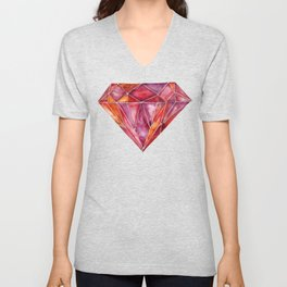 Million-Carat Ruby Unisex V-Neck