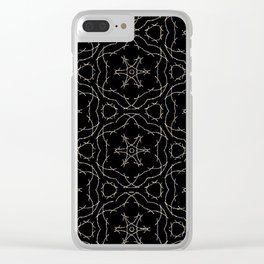 Antique Black and Gold Pattern Design Clear iPhone Case