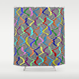 Rainbow Net Shower Curtain