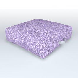The Most Detailed Intricate Mandala (Violet Purple) Maze Zentangle Hand Drawn Popular Trending Outdoor Floor Cushion