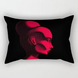 Red Cameo Rectangular Pillow