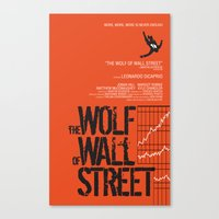 wolf of wall street Canvas Prints featuring The Wolf of Wall Street  by Geminianum