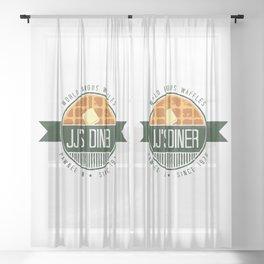 jj's diner Sheer Curtain