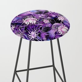 Ghost Lilies Bar Stool