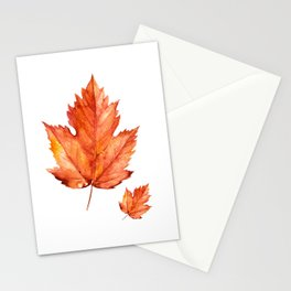 Autumn Maple Leaves Stationery Cards