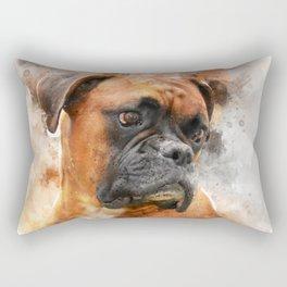 Boxer Dog Thinking Rectangular Pillow