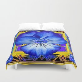 BLUE SAPPHIRES BLUE PANSY GEMS DESIGN Duvet Cover
