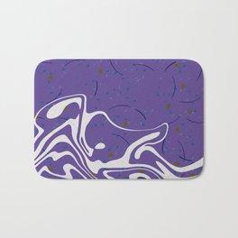 Violet Marbled Waves Swirled Effect Design Bath Mat
