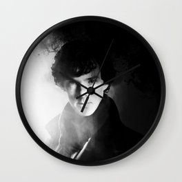 AMAZING SHERLOCK - BLACK & WHITE Wall Clock