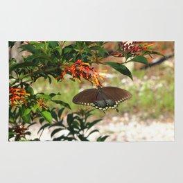 Butterfly andFirebush Rug