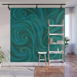 teal swirl Wall Mural