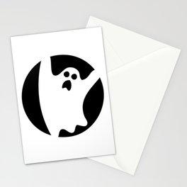 ghosty black Stationery Cards