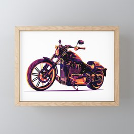 Motorcycle Pop-Art Framed Mini Art Print