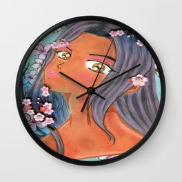 Cherry Blossom Klip Wall Clock