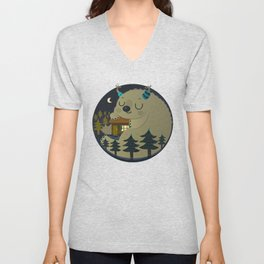 Home is where the monsters are Unisex V-Neck