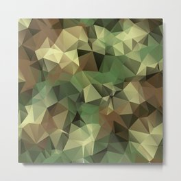 Military Camouflage Metal Print