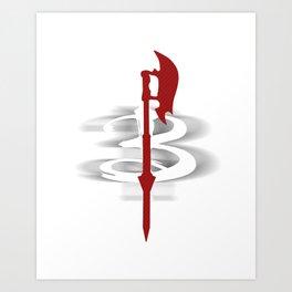 Buffy's Scythe Art Print