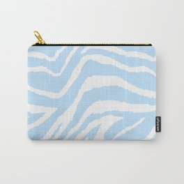 ZEBRA BLUE AND WHITE ANIMAL PRINT PATTERN Carry-All Pouch