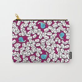 Snail Mail Burgundy Carry-All Pouch