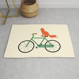 Fox Riding Bike Rug