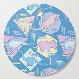 Nineties Dinosaurs Pattern  - Pastel version Cutting Board