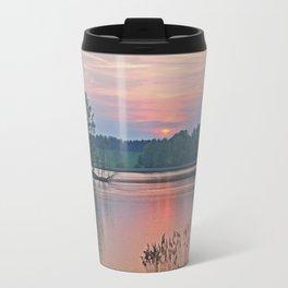 Willen Lake Sunset Travel Mug