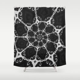 Dark Mandala #3 Shower Curtain