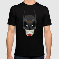 Bat-Man Sugar Skull LARGE Black Mens Fitted Tee
