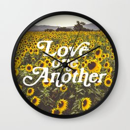 Love One Another Sunflowers Wall Clock