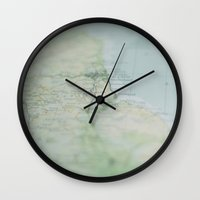 atlas Wall Clocks featuring Atlas by Janet Prentice