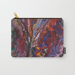 canvas painting wild orchid Carry-All Pouch