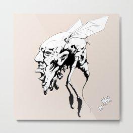Bug Hed Metal Print