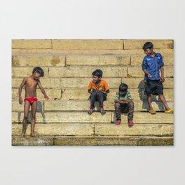 Varanasi kids Canvas Print