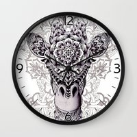 giraffe Wall Clocks featuring Giraffe by BIOWORKZ