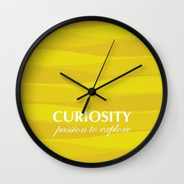 Yellow for Curiosity Wall Clock