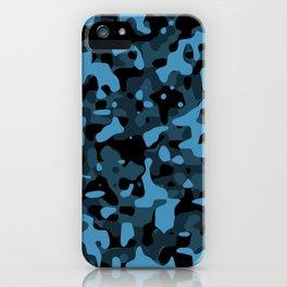 Dark Blue Camo iPhone Case