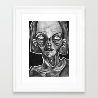 helen Framed Art Prints featuring helen by Valeria Pomidoro