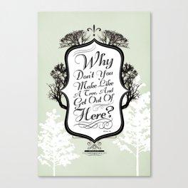 """Make Like a Tree"" Typography Back to the Future Print Canvas Print"