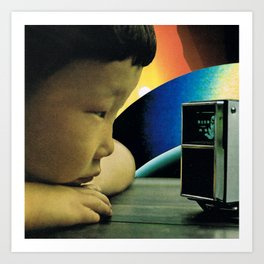 radiohead in space Art Print