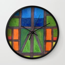 The Outlook over the Flat Land  Wall Clock