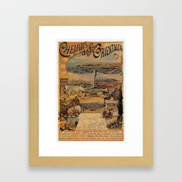 Oriental railways to Constantinople Framed Art Print