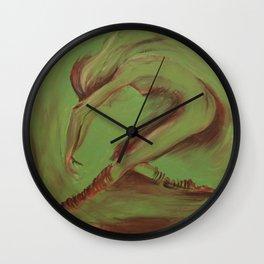 Dancer green Wall Clock